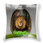 Lion Art Throw Pillow