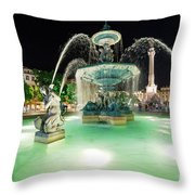 Lisbon By Night Throw Pillow