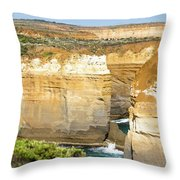 Loch Ard Gorge Throw Pillow