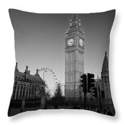 London  Skyline Big Ben Throw Pillow