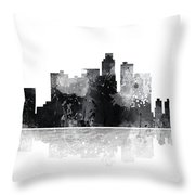 Los Angeles California Skyline Throw Pillow