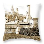 Louisiana Monument, 1904 World's Fair Throw Pillow