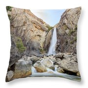 Lower Yosemite Fall In The Famous Yosemite Throw Pillow