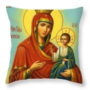 Madonna Enthroned Art Throw Pillow