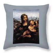 Madonna With The Yarnwinder Throw Pillow
