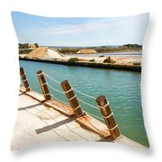 Main Canal - Trapani Salt Flats Throw Pillow