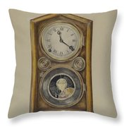 Mantel Clock Throw Pillow