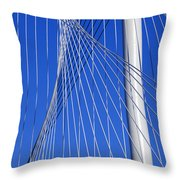 Margaret Hunt Hill Bridge In Dallas - Texas Throw Pillow