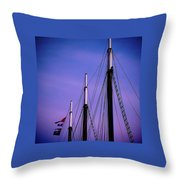 3 Masts In Halifax Throw Pillow