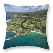Maui Aerial Of Kapalua Throw Pillow