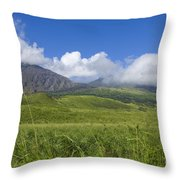 Maui Haleakala Crater Throw Pillow