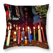 Mayan Ceremony Throw Pillow