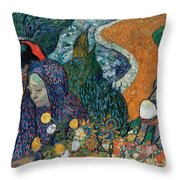 Memory Of The Garden At Etten Throw Pillow