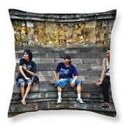 3 Men Watching Throw Pillow