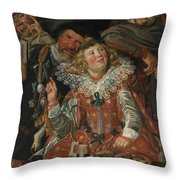 Merrymakers At Shrovetide Throw Pillow