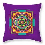 Metatron's Cube Merkaba Mandala Throw Pillow