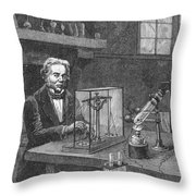 Michael Faraday (1791-1867) Throw Pillow