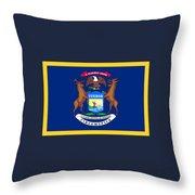 Michigan Flag Throw Pillow