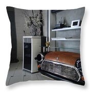Mini 007 Throw Pillow