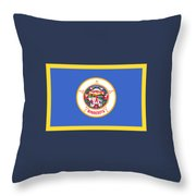Minnesota Flag Throw Pillow