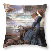 Miranda - The Tempest Throw Pillow
