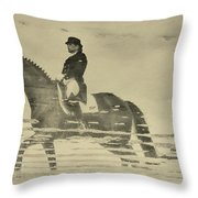 Mirror Image Reflected Throw Pillow