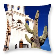 Mission San Xavier Del Bac Tohono O Odham Indian Reservation Throw Pillow