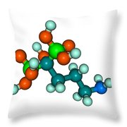 Molecular Model Of Fosamax Throw Pillow