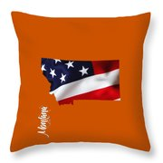 Montana State Map Collection Throw Pillow