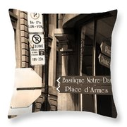 Montreal Street Scene Throw Pillow