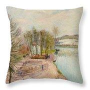 Moret-sur-loing Throw Pillow