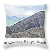 Mount Baker, Cascade Range, Washington State Throw Pillow