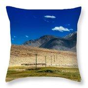 Mountains Of Leh Ladakh Jammu And Kashmir India Throw Pillow