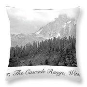 Mt. Baker, Cascade Range, Late Afternoon Throw Pillow