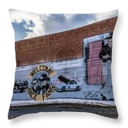 Mural - Downtown Bristol Tennessee/virginia Throw Pillow