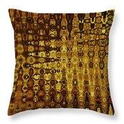 Mushroom Abstract Throw Pillow