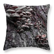 Mushroom Art Throw Pillow