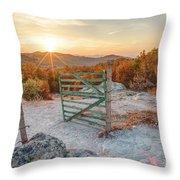 Mushroom Rock Phenomenon At Sunset Throw Pillow