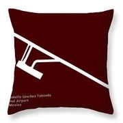 Mxl General Rodolfo Sanchez Taboada International Airport In Mex Throw Pillow