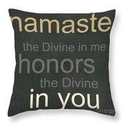 Namaste Throw Pillow
