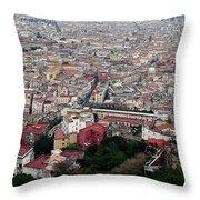 Naples Italy Throw Pillow