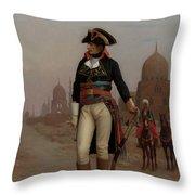 Napoleon In Egypt Throw Pillow
