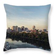 Nashville Tennessee Skyline Sunrise  Throw Pillow