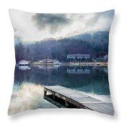 Nature Around Lake Lure Chimney Rock And Broad River North Carol Throw Pillow