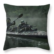 Navy Seals Navigate The Waters Throw Pillow