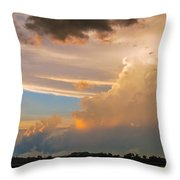 Nebraska Hp Supercell Sunset Throw Pillow