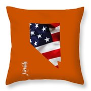 Nevada State Map Collection Throw Pillow