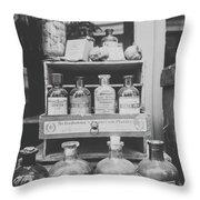 New Orleans Apothecary - Bw Haze Throw Pillow