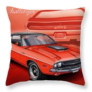 Dodge Challenger 1970 R/t Throw Pillow