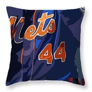 New York Mets Baseball Team And New Typography Throw Pillow